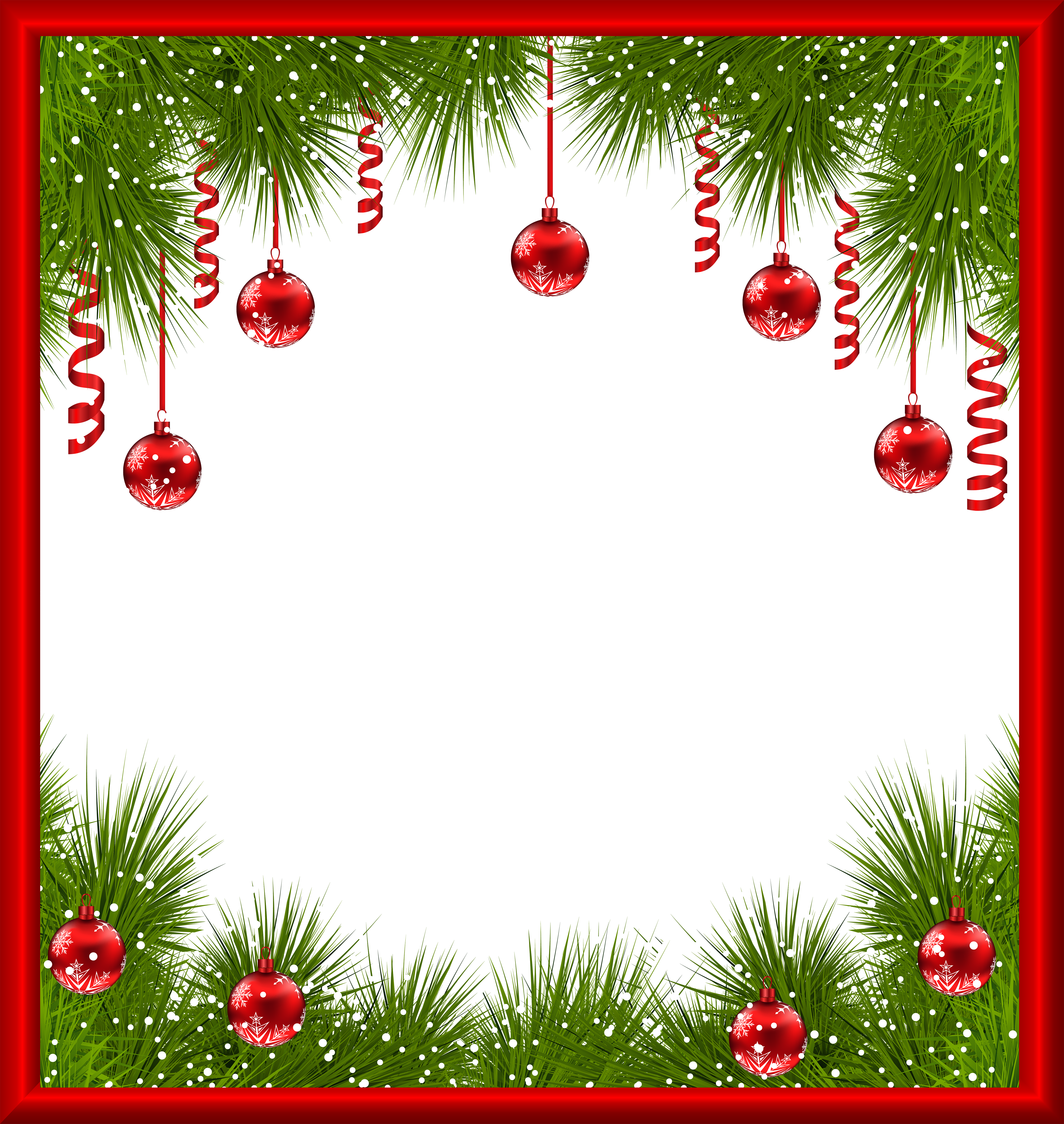 Christmas png transparent with. Clipart frame tree