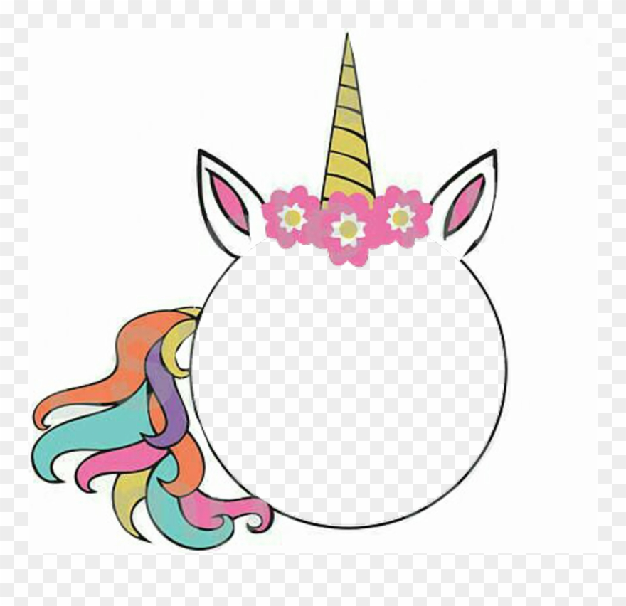 Sticker unicornio png . Clipart unicorn frame