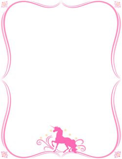 Border and wallpaper birthday. Clipart unicorn frame