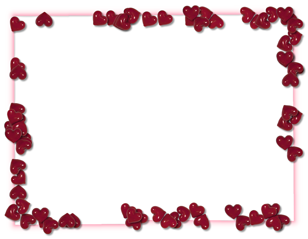 Valentines day frame photo. Heart border png