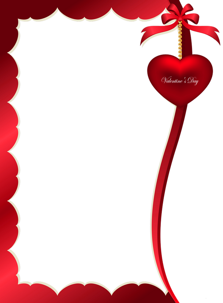 Decorative ornament for frame. Valentines day border png