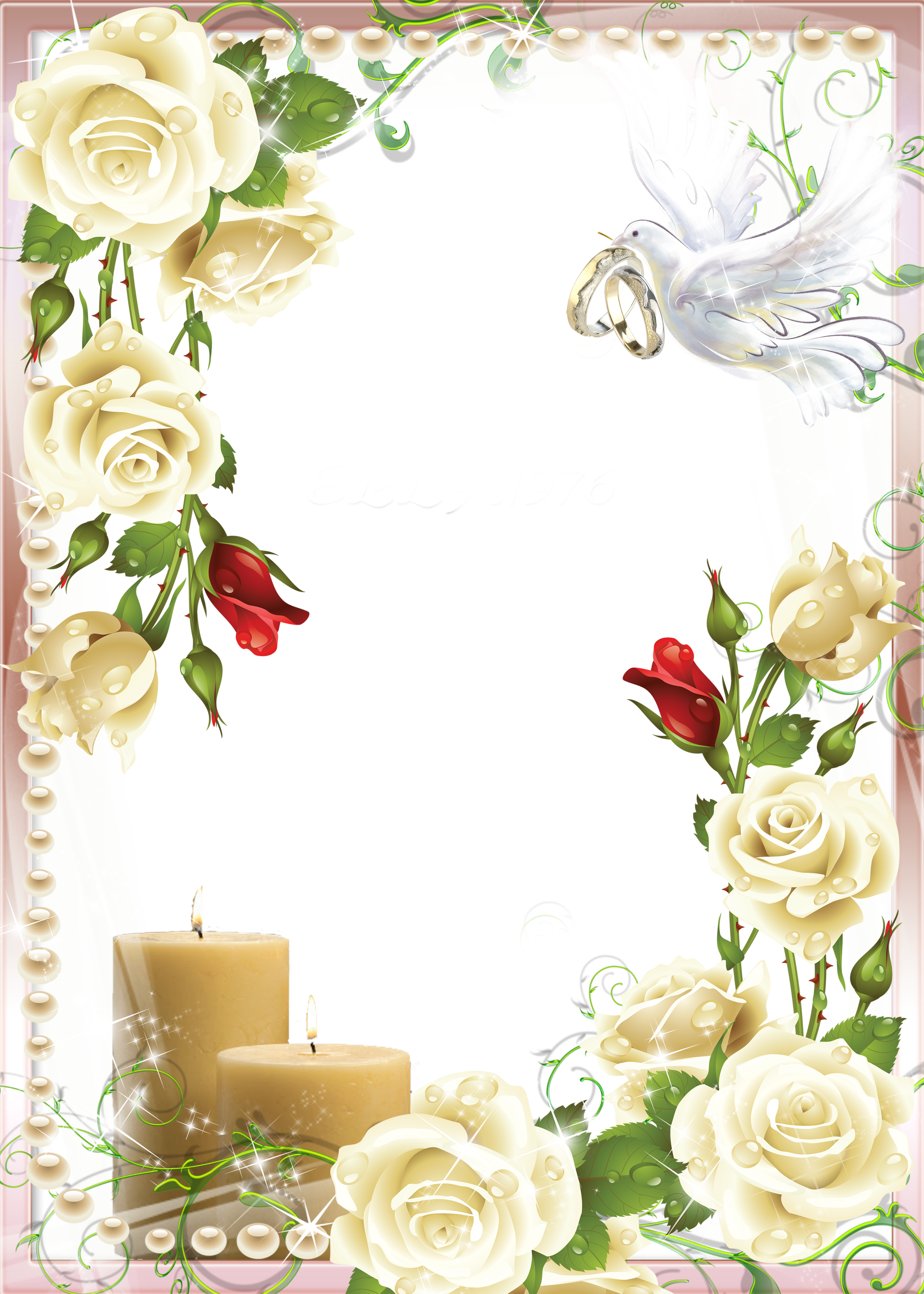 Wedding frame png. Soft photo gallery yopriceville