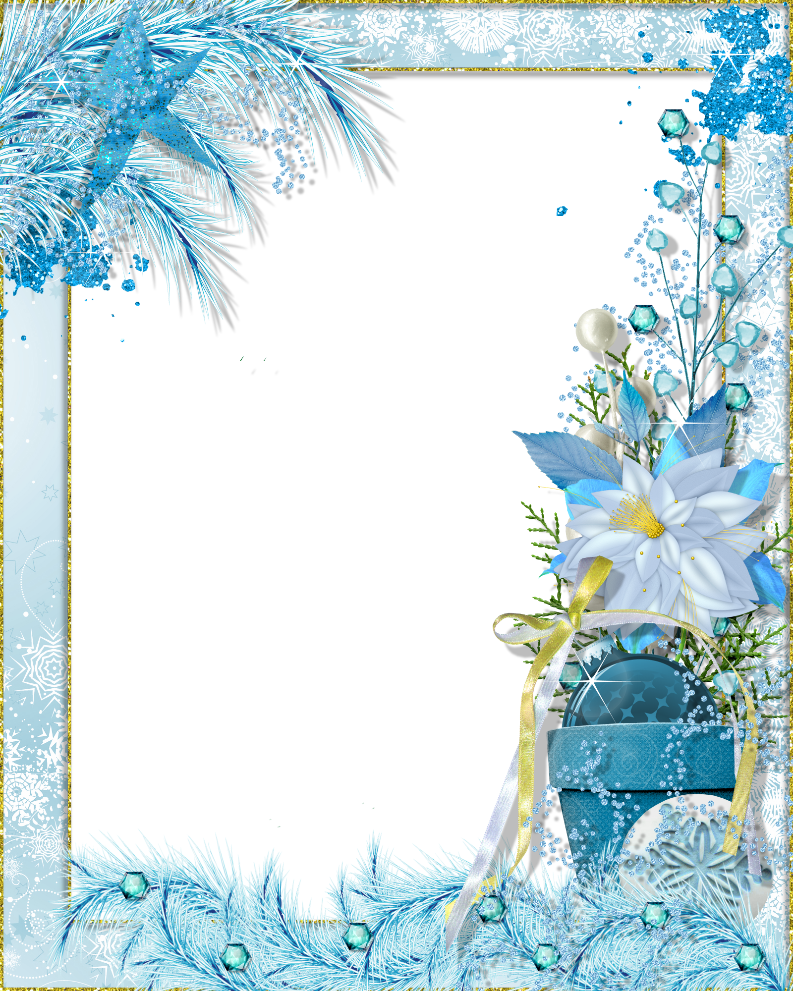 Transparent png photo fantasy. Clipart winter frame