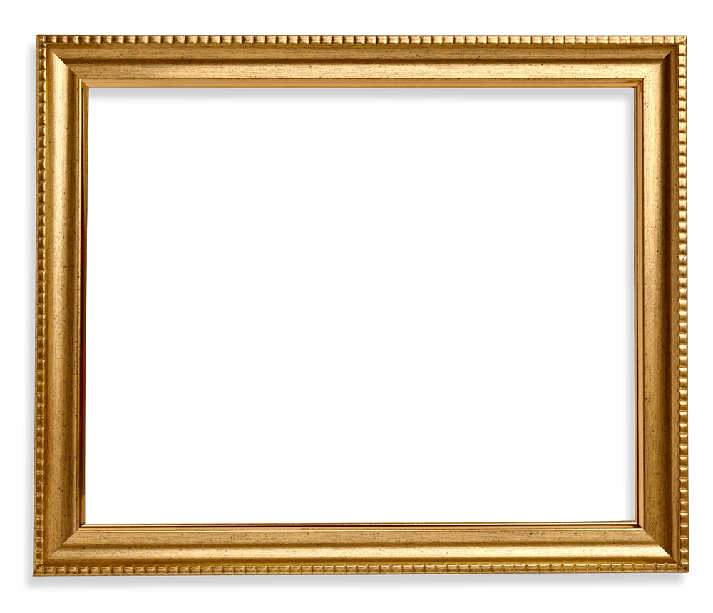 Square wood gold . Picture frame png