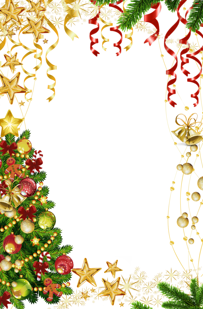 Exercise clipart christmas. Transparent photo frame with