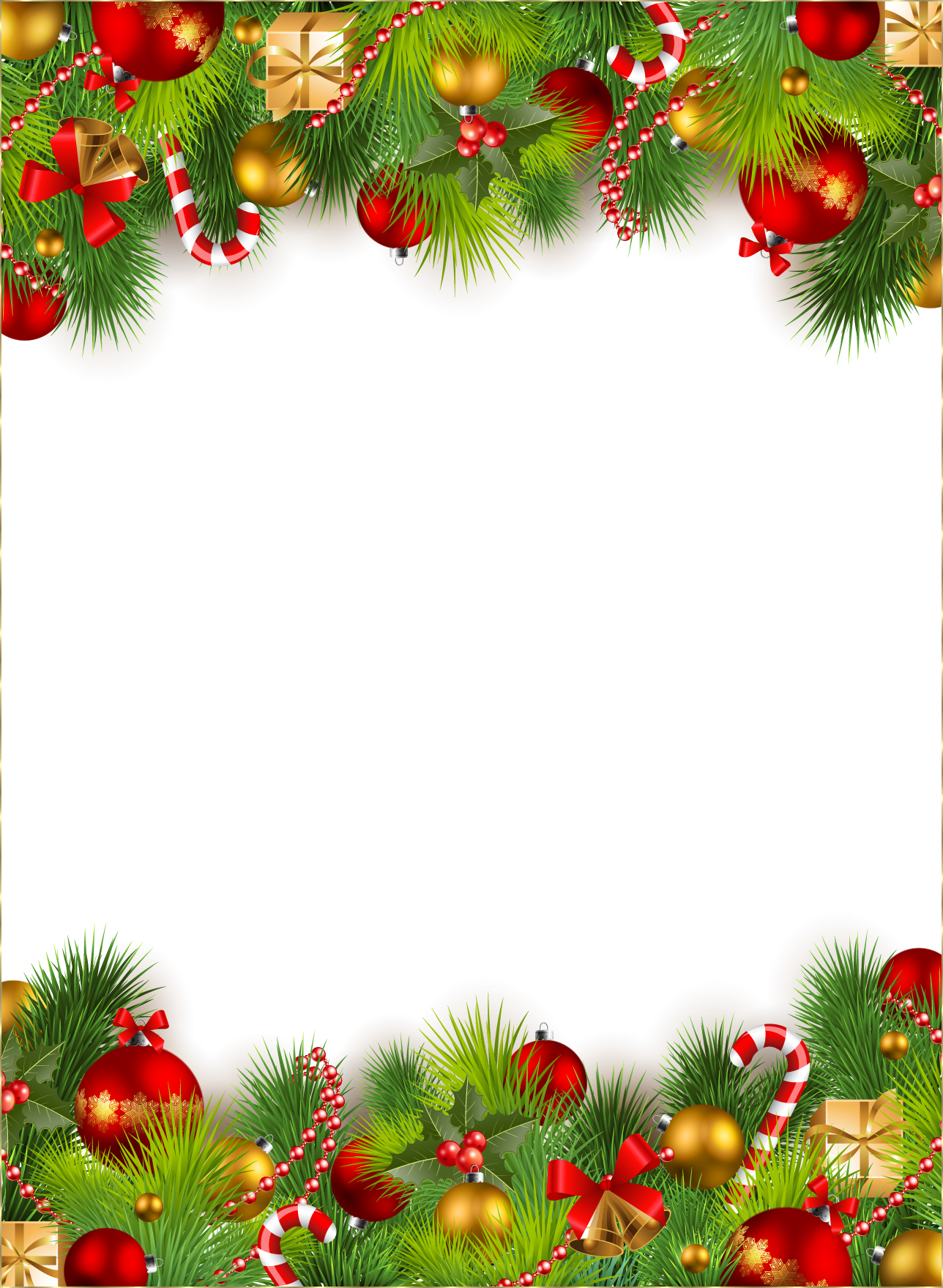 Zoom in real dimensions. Christmas border png