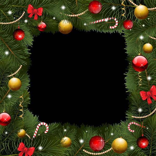 Christmas garland border png. Transparent frame frames pinterest