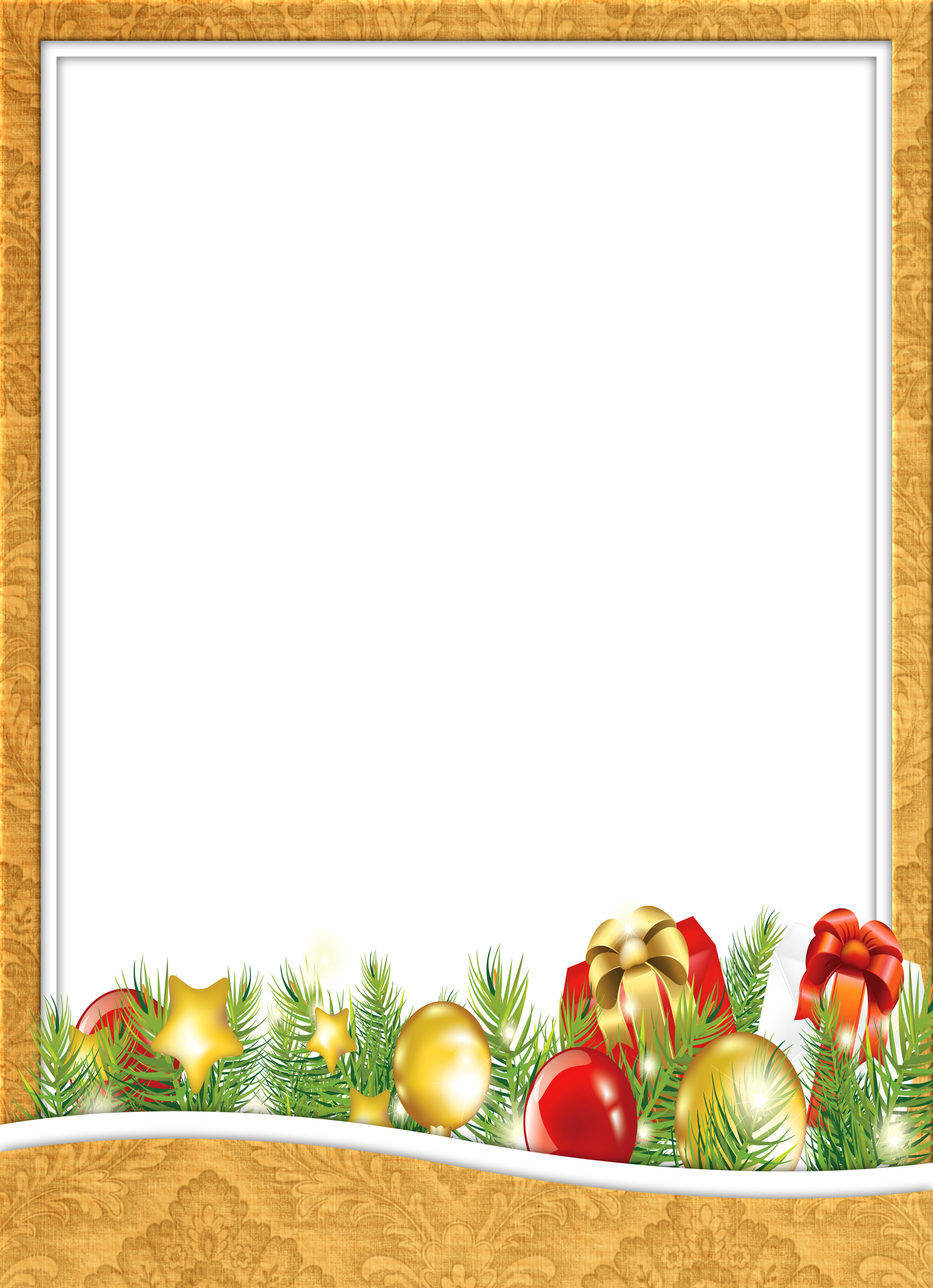 Yellow christmas transparent png. Clipart gallery photograph frame