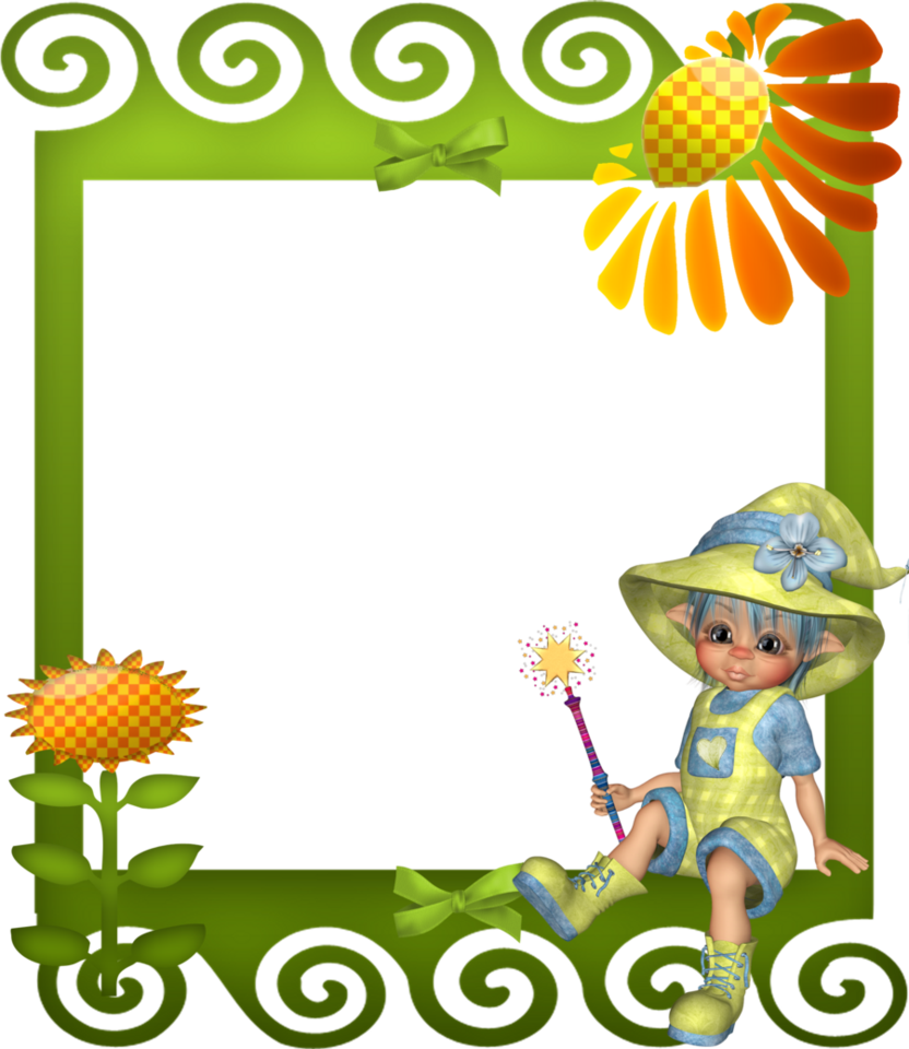 Sunflower child by mysticmorning. Frame clipart baby boy