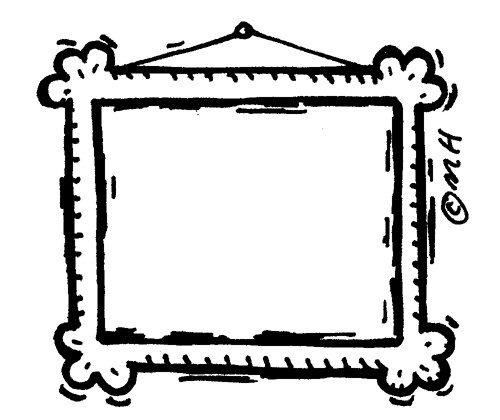 Frame clipart black and white. Free clip art download