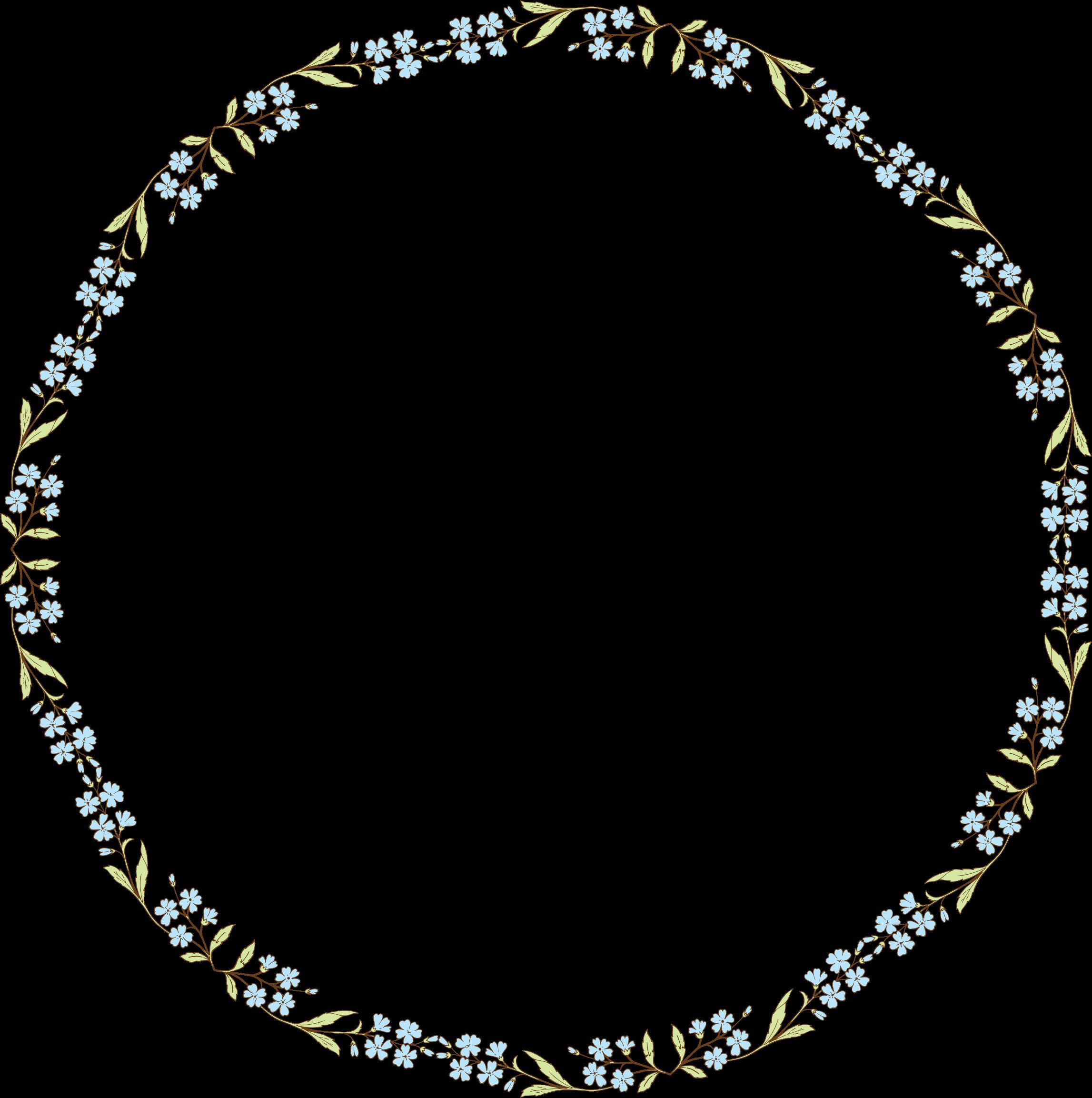 Frames clipart blue flower. Flowers frame big image