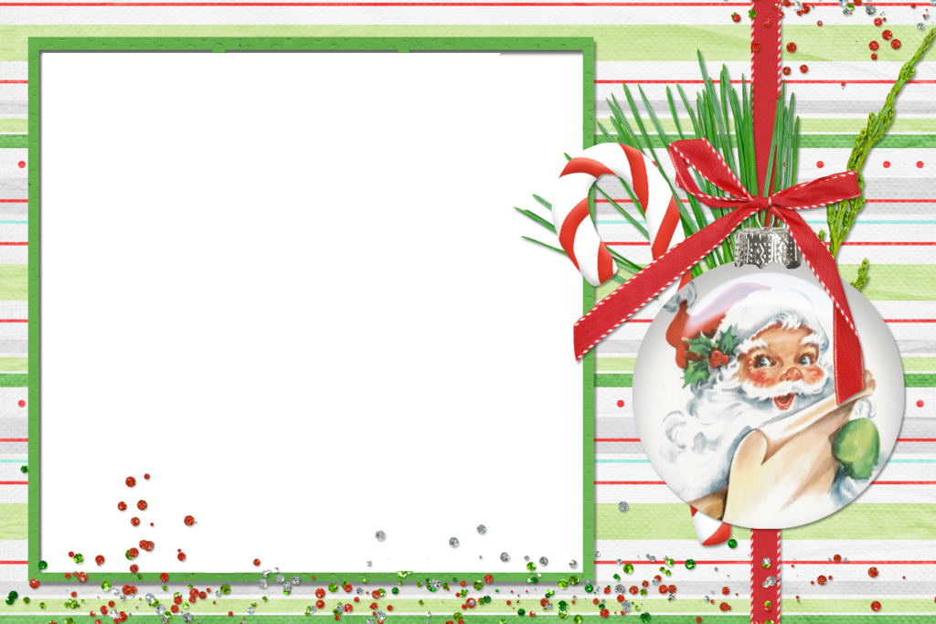 Christmas png photo frame. Frames clipart candy