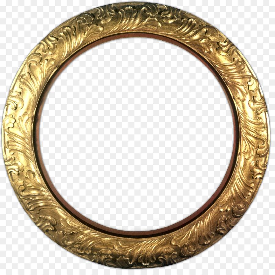 Frame gold transparent clip. Clipart frames circle