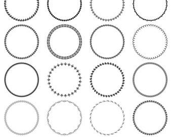 Free circular frame cliparts. Clipart frames circle
