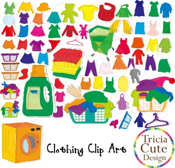 Clothing clipart used clothes. Laundry clip art can