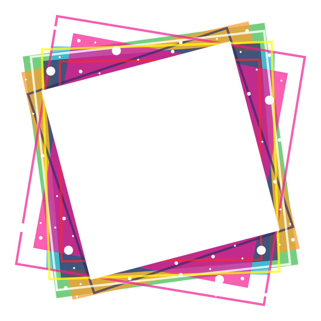Png frame. Colorful frames