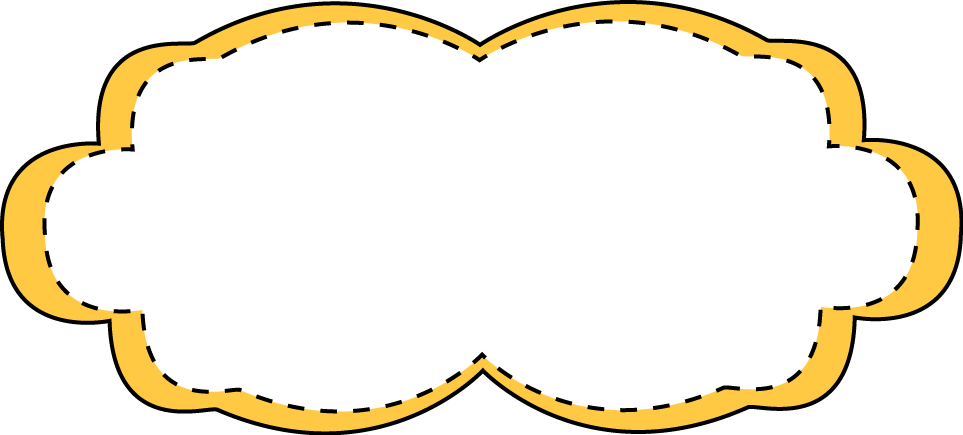 Frame clipart classroom. Yellow stitched free clip