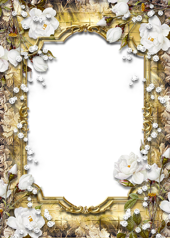 Diamonds clipart frame. Gold png with and