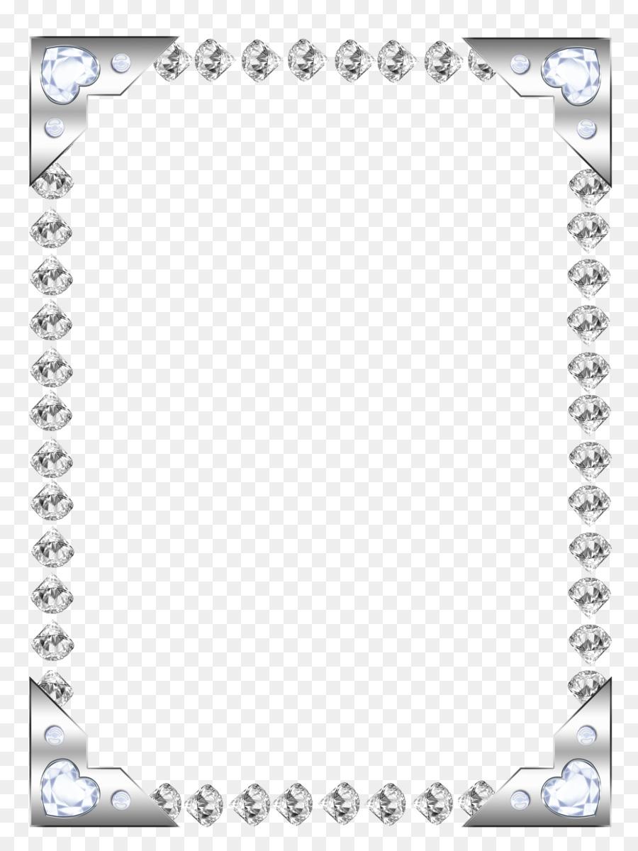 Black and white rectangle. Diamond clipart frame