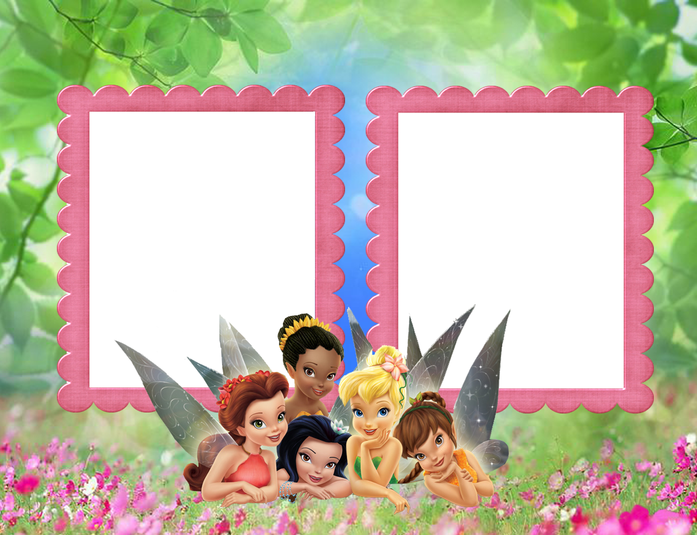 Tinkerbell clipart pink. Kids transparent frame with