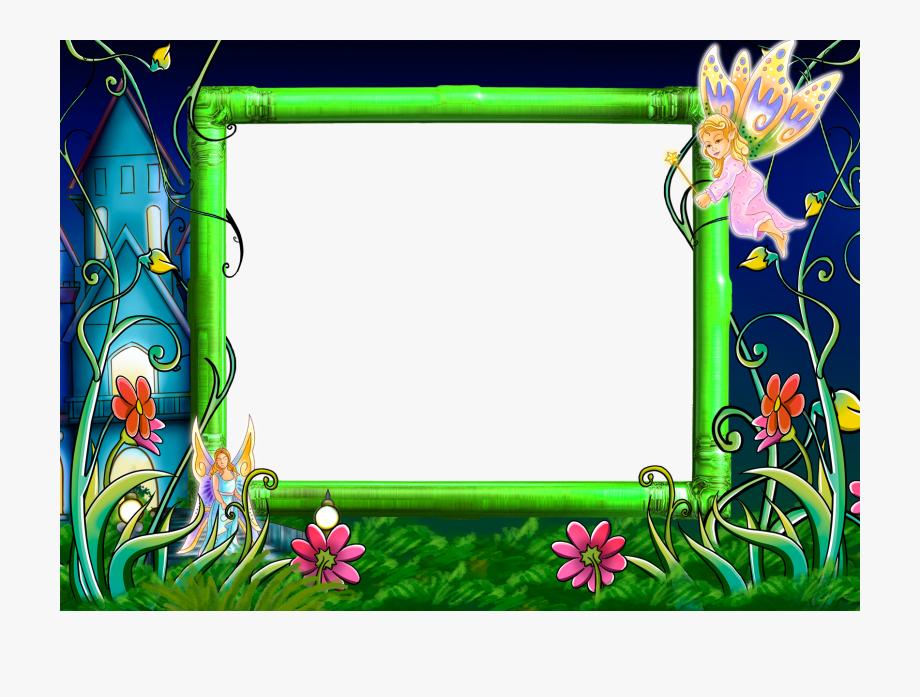 Transparent image fairy tale. Fairies clipart frame