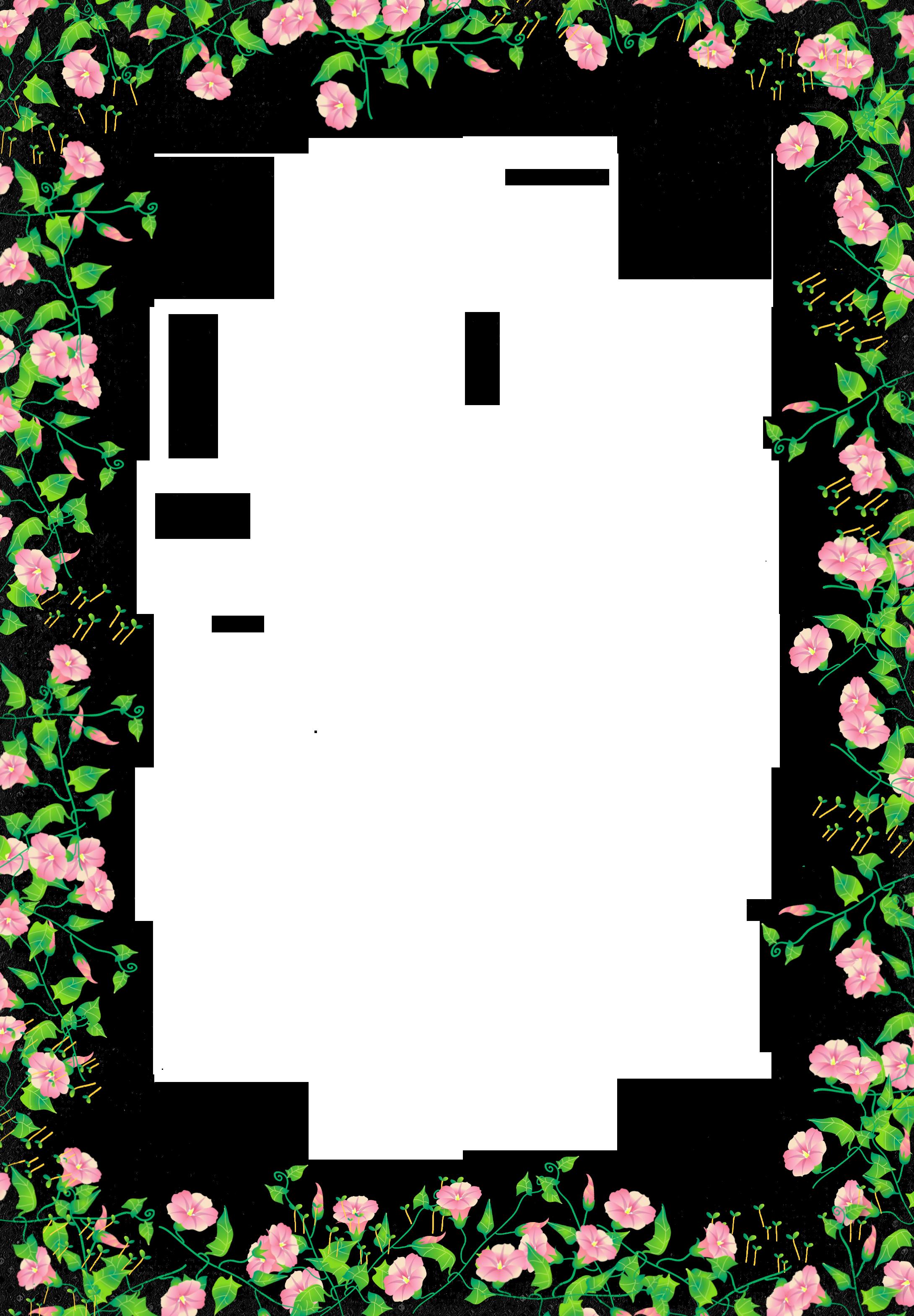 Clipart frames flower. Black transparent frame gallery