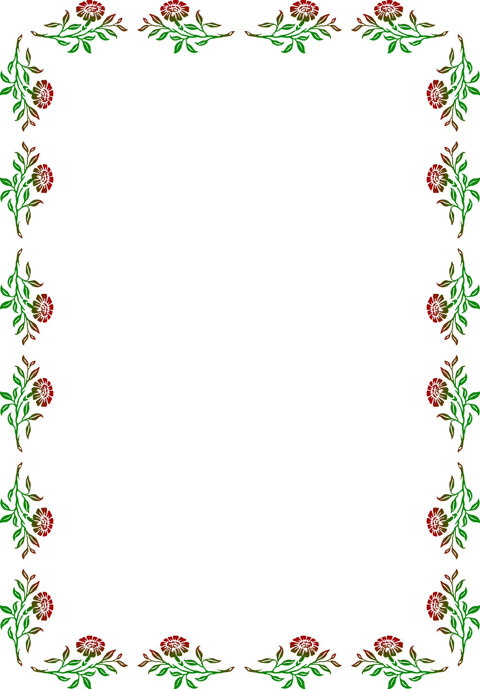 Clipart big image. Floral frame png