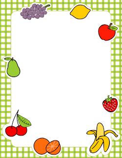 Fruits clipart frame. Fruit border adgenda printable