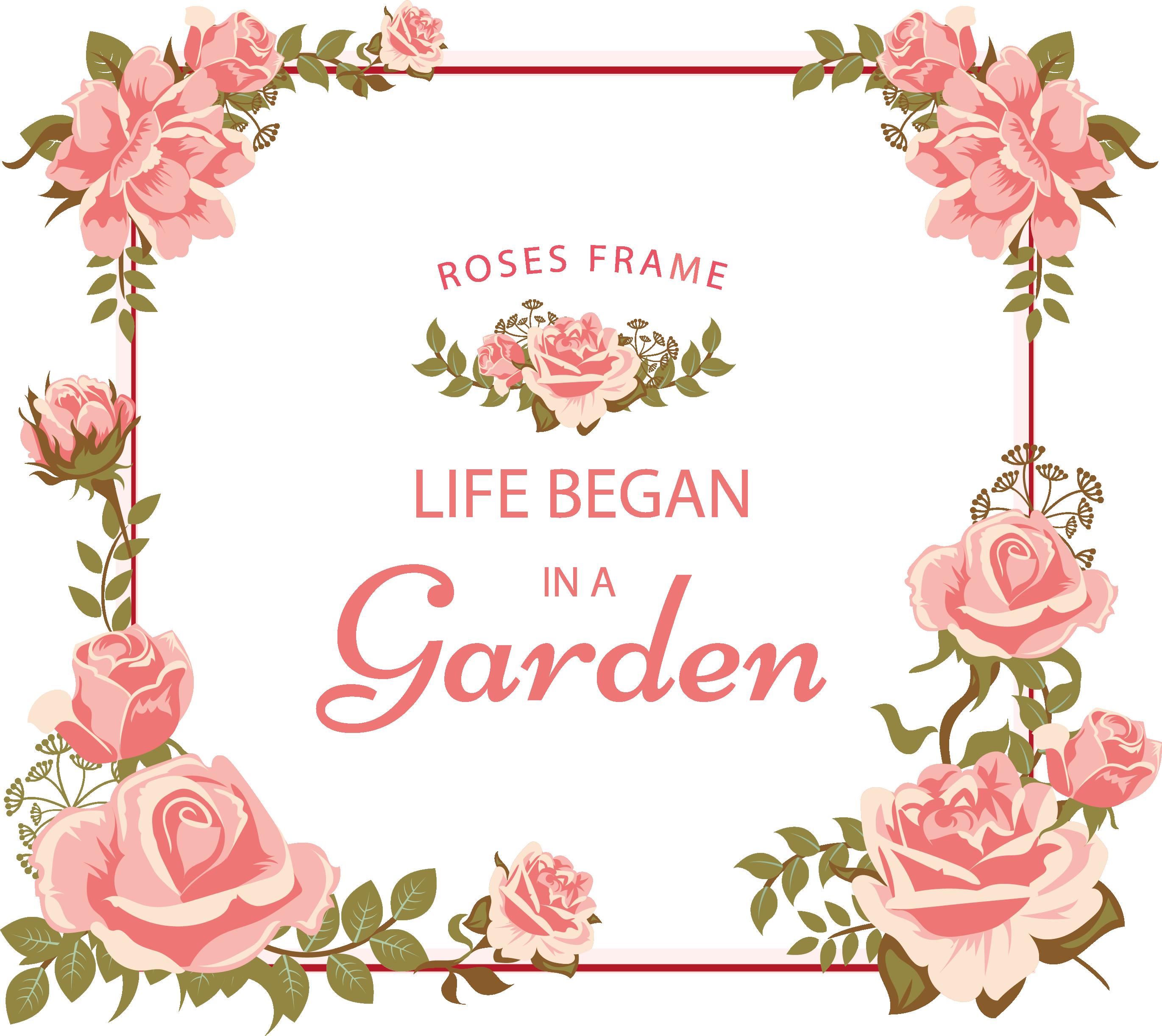 Freepik com floral frame. Clipart frames garden