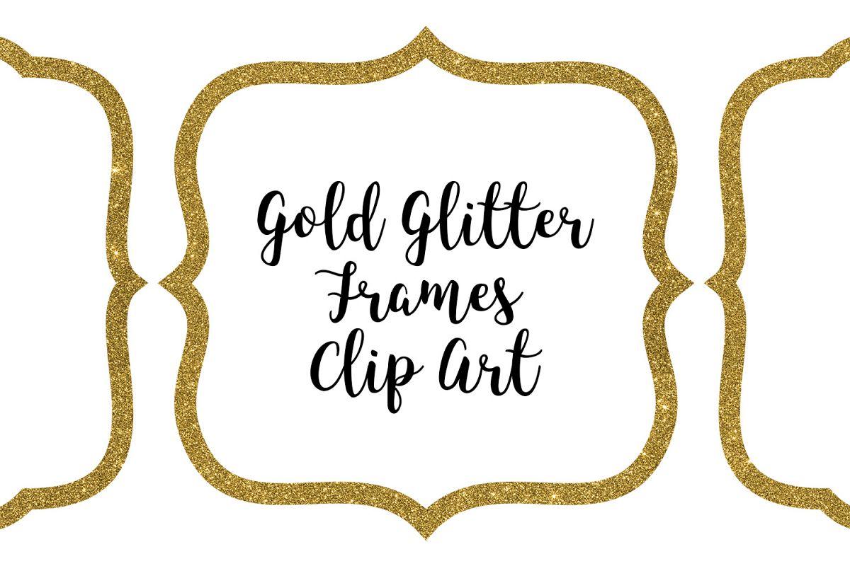 Clip art . Clipart frames gold glitter