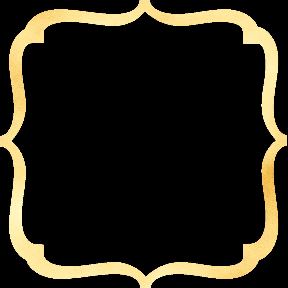 Humbug graphics galore bracket. Clipart frames gold glitter