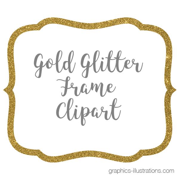Clipart frames gold glitter. Frame