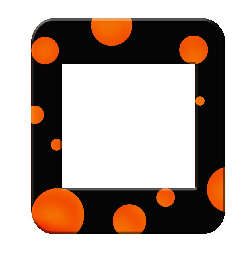 Clipart frames graduation. Polka dot frame and