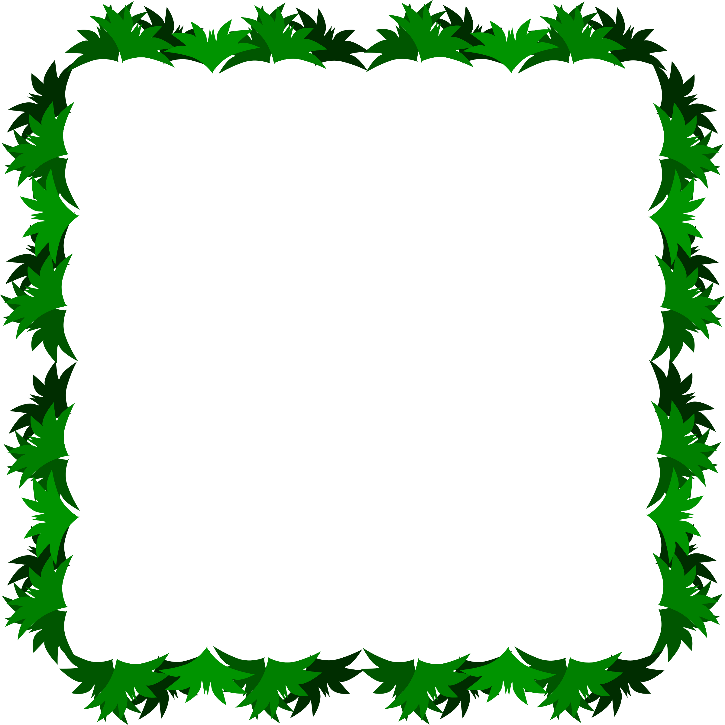 Four sided border made. Clipart frames grass