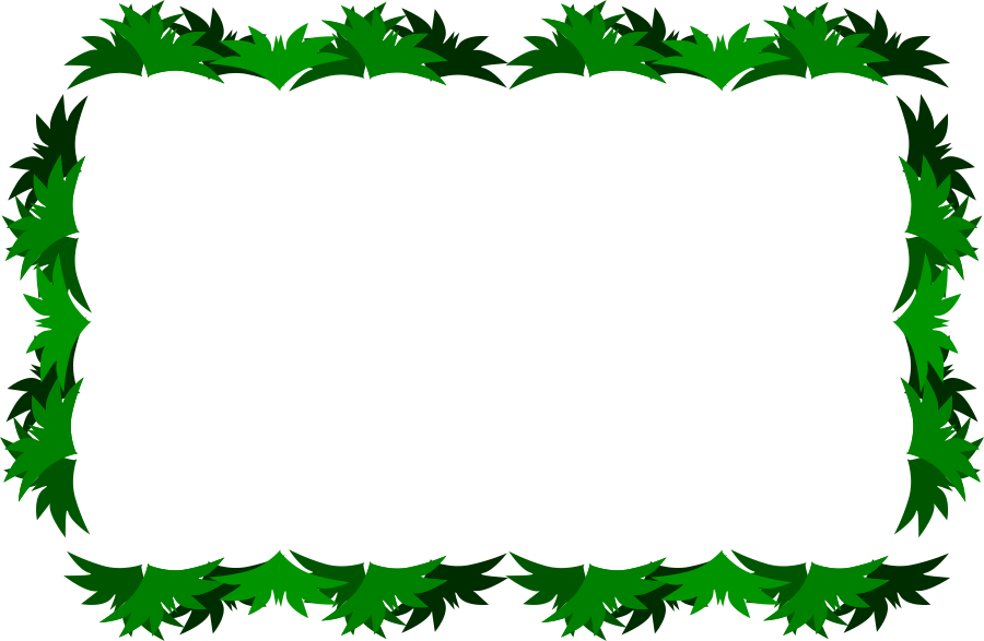 Pineapple clipart frame.  collection of leaves