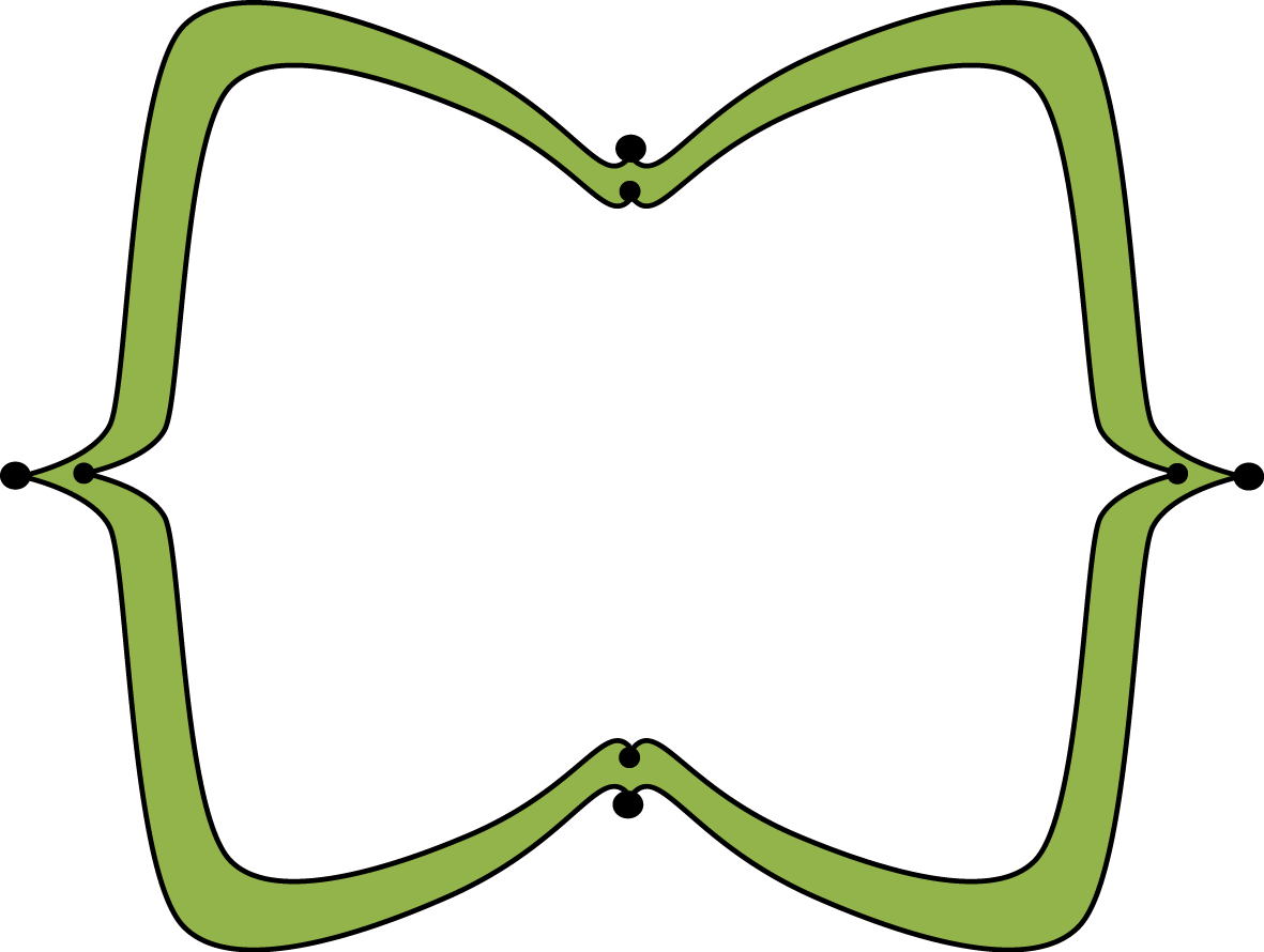 Wide pointy free clip. Frame clipart green