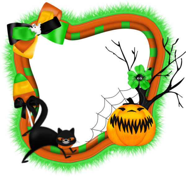 Clipart halloween frame. Transparent png photo with