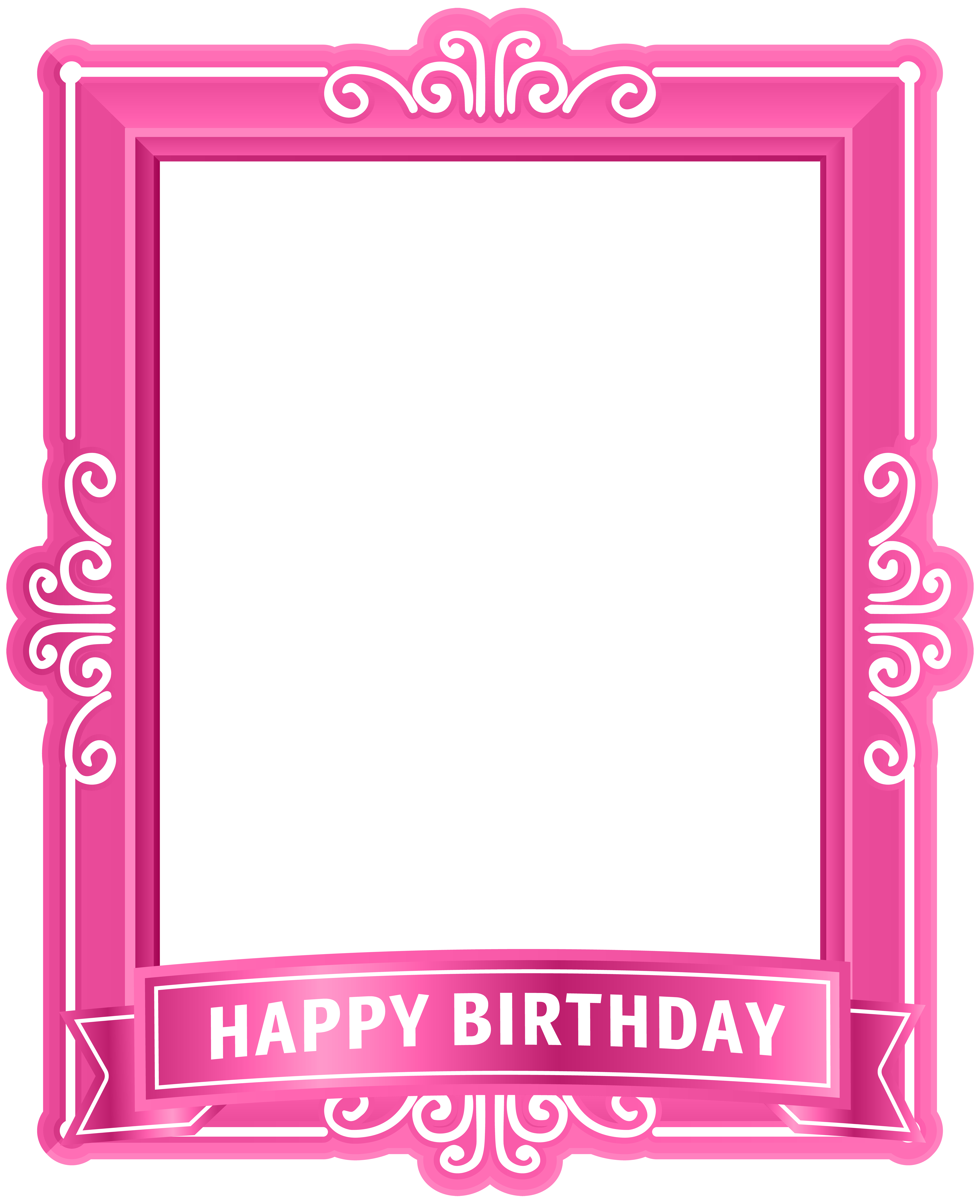 Birthday happy to you. Frames clipart cake