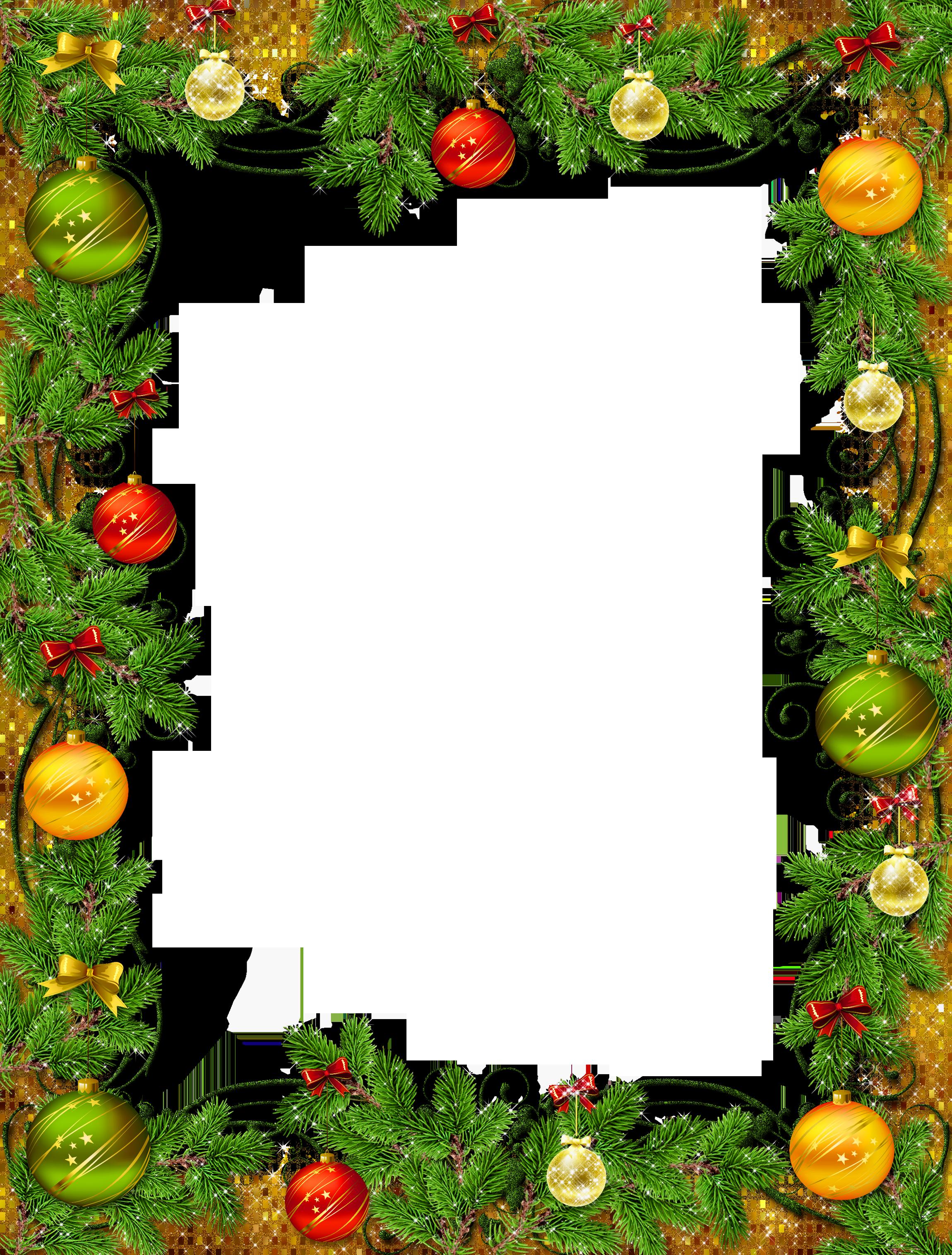 Christmas decoration png transparent. Winter clipart frame