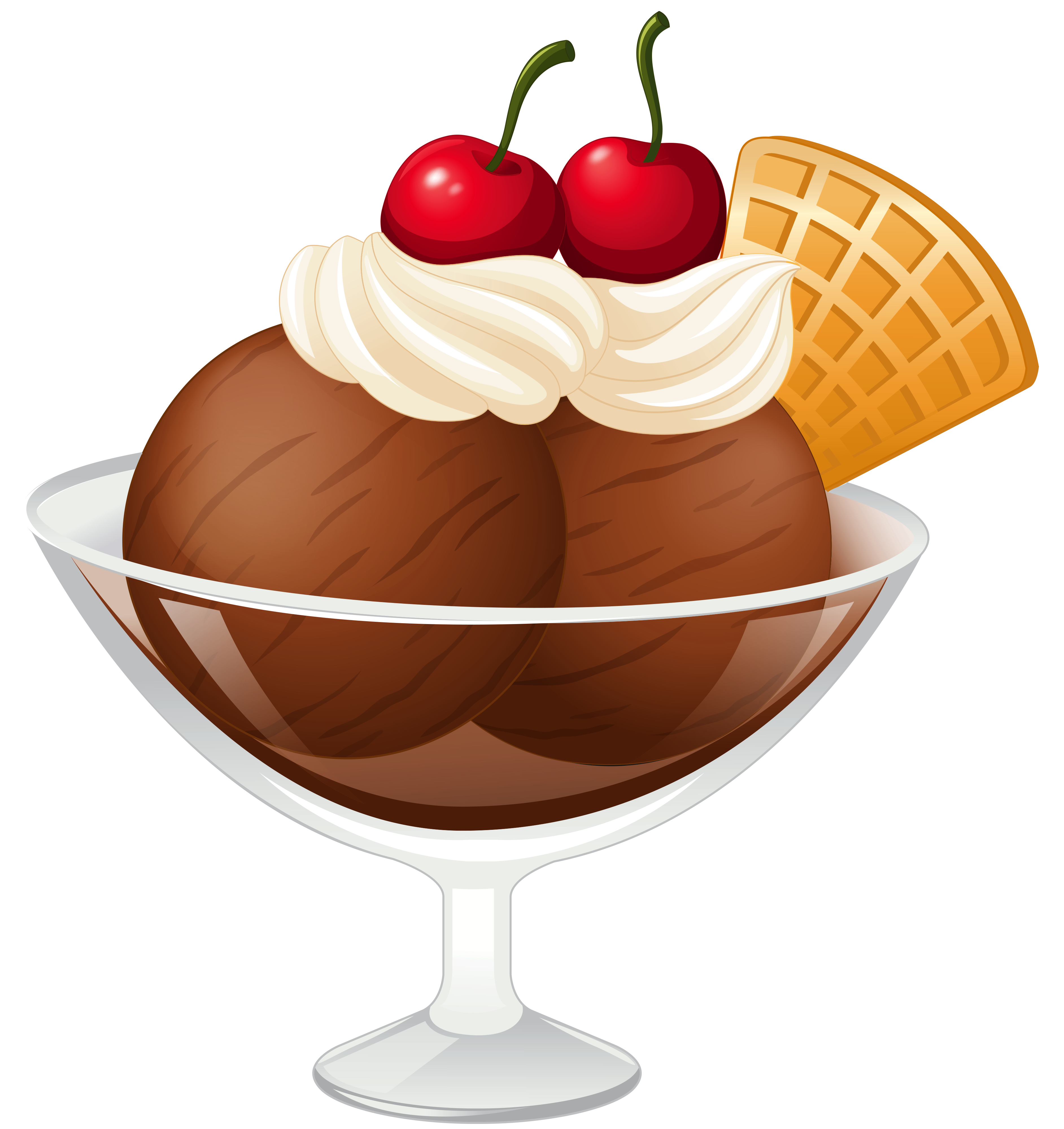 Ice clipart transparent background. Chocolate cream sundae picture