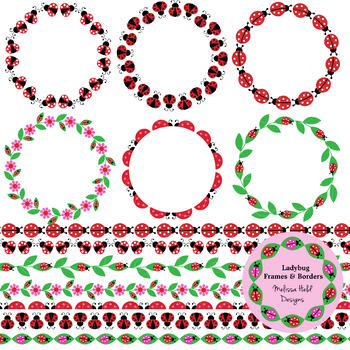 Ladybug clipart frame. Frames and borders