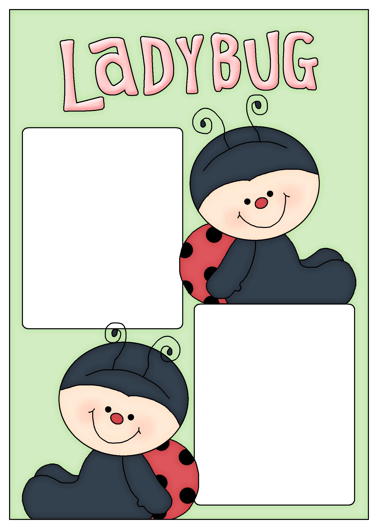 Frames lady bugs pinterest. Ladybug clipart let's celebrate