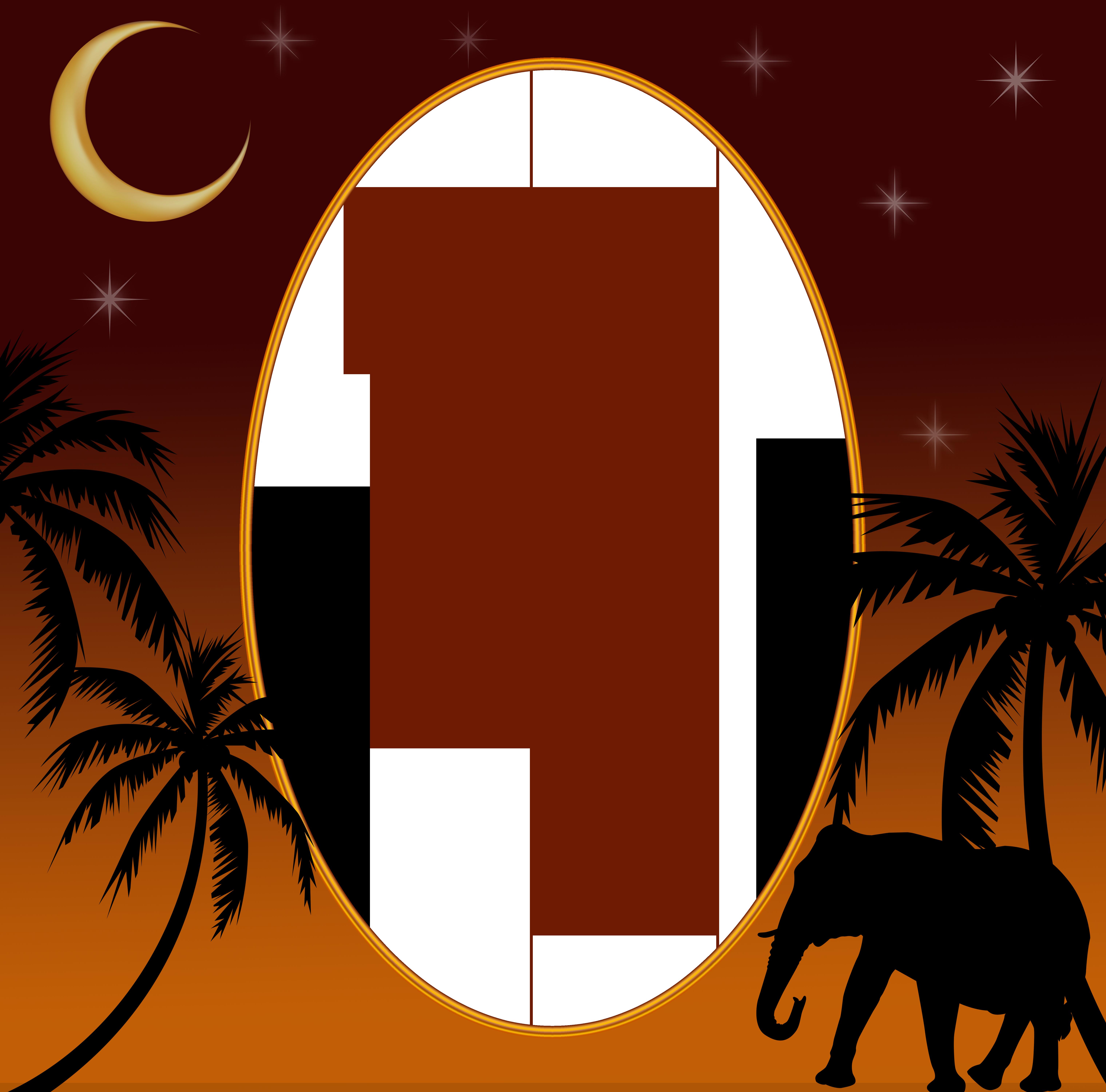 Night clipart night landscape. Jungle png transparent frame