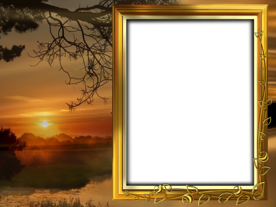Sunset clipart sunset landscape. Beautiful transparent png frame