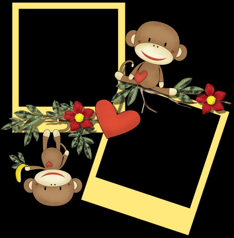 Cheyokota digital scraps sock. Frames clipart monkey