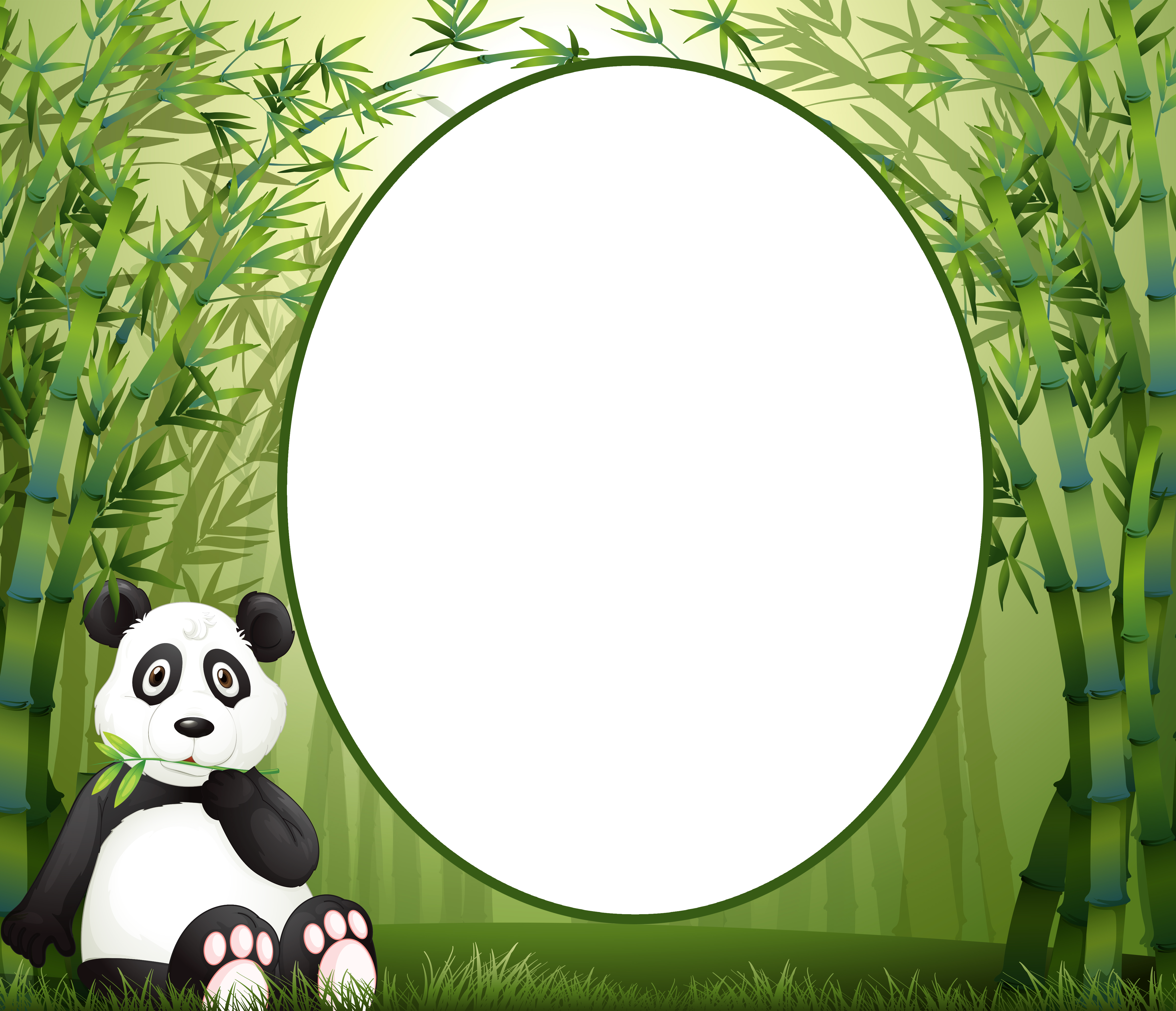 Child PNG Frame with Cute Panda | Gallery Yopriceville - High ...