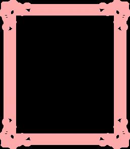 Frame pink vinatge clip. Clipart frames peach
