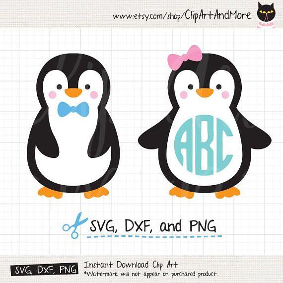 Penguin file monogram for. Clipart penquin svg