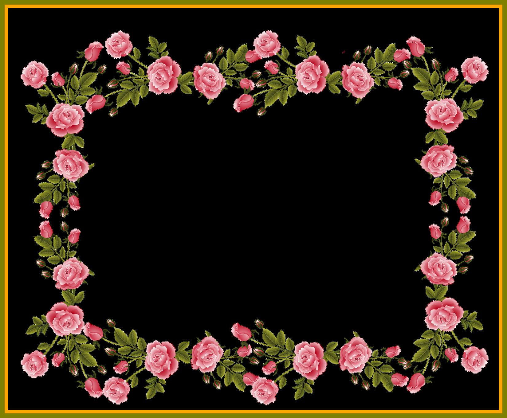 Clipart frames pink rose. Appealing pinkroses scrapbooking album