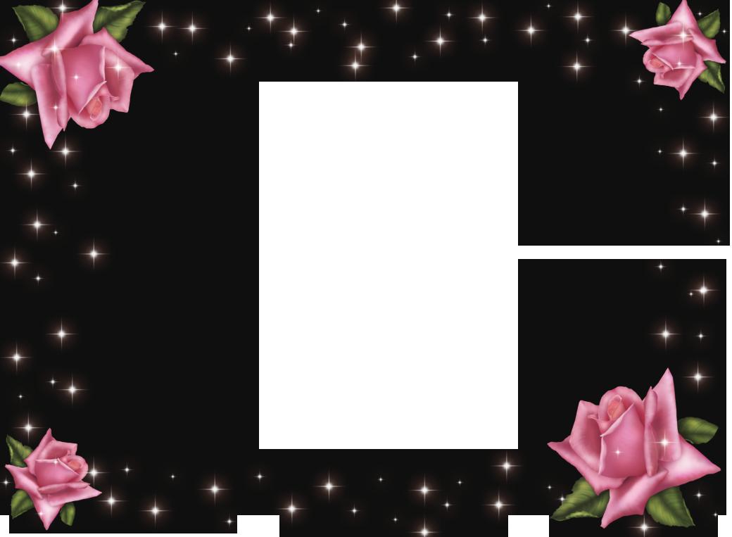 Transparent roses frame gallery. Clipart frames pink rose